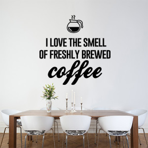 Love the smell of fresh coffee
