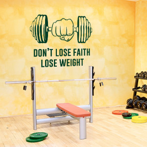 Dont lose faith lose weight (quote)