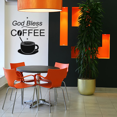 God Bless Coffee με κούπα
